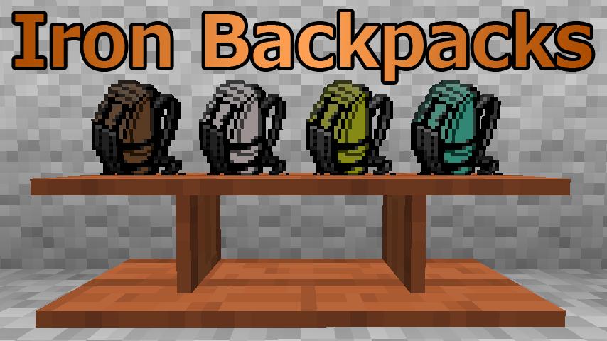 インベントリを拡張 Iron Backpacks ~マインクラフトMod紹介
