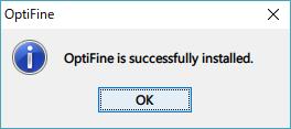 マインクラフト OptiFine 成功