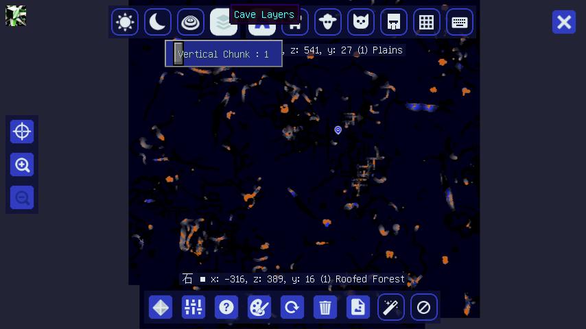 マインクラフト JourneyMap 洞窟マップ